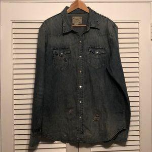Polo Ralph Lauren Denim Snapbutton Causal Shirt.